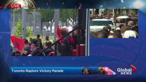 Raptors victory parade: Superfan Nav Bhatia leads victory parade