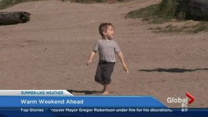 Warm weekend ahead in Lower Mainland