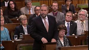 Canada should not rush into a war: Mulcair
