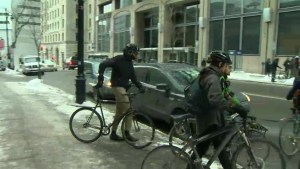 Montreal bike messengers protest unsafe work conditions