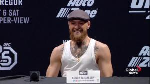 'I'm going to knock his nose into the nosebleeds' says Conor McGregor of fight with Khabib