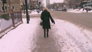 Messy weather leads to treacherous sidewalks in Montreal