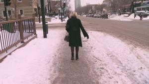 Messy weather leads to treacherous sidewalks in Montreal