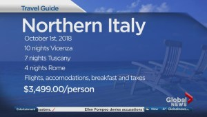 Exploring northern Italy in fall 2018