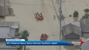 At least 80 dead as heavy rains hammer Japan
