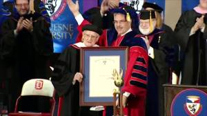 Pittsburgh WWII vet gets honorary degree at 100
