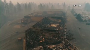 California wildfires: Drone video shows devastation to Paradise caused by fires