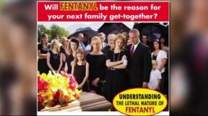 Critics slam funeral home's anti-fentanyl ad