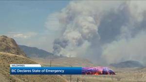 Calm weather making it easier to fight wildfires in Kamloops, BC