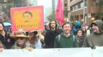 Anti-pipeline protesters turn out in force for Trudeau visit