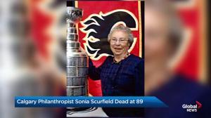 Calgary philanthropist Sonia Scurfield dies