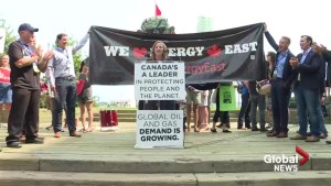 Energy East supporters, protesters clash