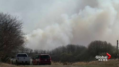 Wildfire prompts state of emergency in biggar sask area watch news videos online - Div position top ...