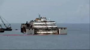 Timelapse video: Costa Concordia refloated