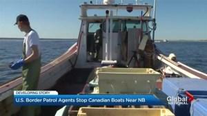 U.S. Border Patrol stopping Canadian boats near New Brunswick