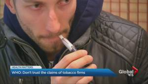W.H.O. says don't trust health claims from e-cigarette, tobacco companies