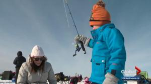 Albertans try icy fishing on Wabamun Lake