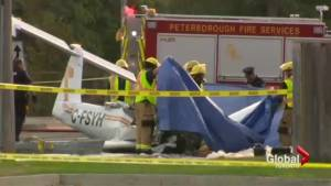 Stolen plane crashes on Peterborough street, kills pilot