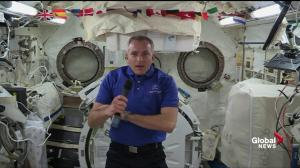 Canadian astronaut David Saint-Jacques describes bodily adjustments in space