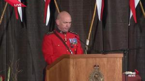RCMP commissioner pays tribute to Cst. Sarah Beckett