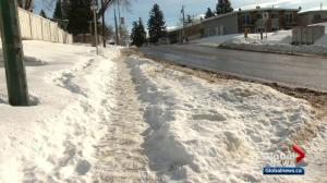 What are the rules when it comes to cleaning your sidewalk in Calgary?