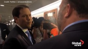 'Don't touch me again': Infowars' Alex Jones, Marco Rubio get into heated confrontation