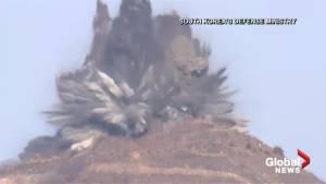 North Korea destroys guard posts in demilitarized zone