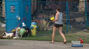 Memorial grows outside of deadly arson scene in Edmonton