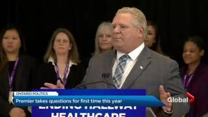 Premier Doug Ford holds first official media availability of 2019