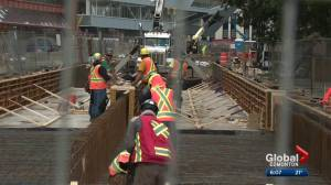 Some Edmontonians frustrated by construction downtown