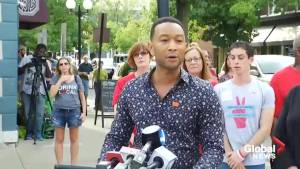 John Legend calls for stricter gun laws during visit to Dayton, Ohio