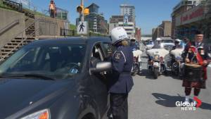 Drivers pulled over by police in Halifax receive Royal Nova Scotia Tattoo tickets (00:54)