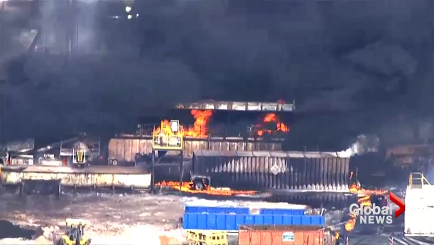 5 employees unaccounted for after rig blast