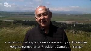 Benjamin Netanyahu to name Golan Heights community after Donald Trump