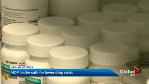 Federal NDP leader wants action on the cost of drugs