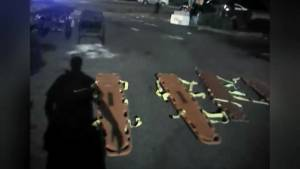 Body cam video of Orlando nightclub shooting aftermath shows police scrambling to save victims (01:26)