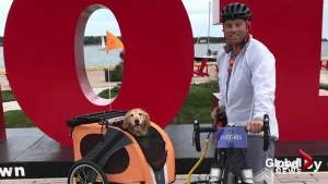 Alberta man crossing Canada by bike to raise awareness for PTSD