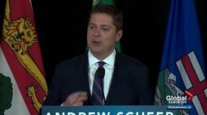 Scheer speaks about carbon tax during Edmonton visit