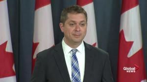 Scheer says Canada needs 'real plan' to tackle climate change as flooding continues