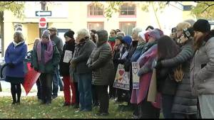 Vigil held in Peterborough to remember those murdered in Pittsburgh Saturday