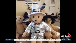 Seamstress Heather McNie designs teddy bears to look like well known musicians and rock stars