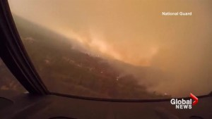 Video shows National Guard water bombers fighting California wildfires