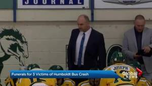 Funerals for 3 victims of Humboldt bus crash