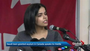 Saudi teen who was granted asylum in Canada speaks to media