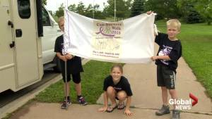 Man walks across Canada in honour of father
