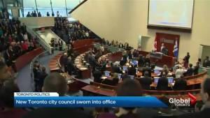 Toronto city council sworn in for 2018-2022 term