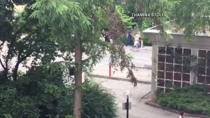 Raw video: people running from shopping mall in Germany after shots fired