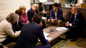 Trudeau, Trump at odds after president pulls out of endorsing G7 communique