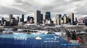 Edmonton early morning weather forecast: Tuesday, November 14, 2017