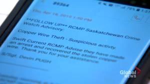 Saskatchewan RCMP crime watch alert system expanded province-wide
